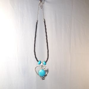 Horsehair Necklace with Turquoise Pendant